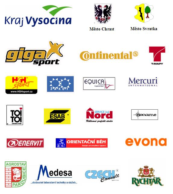 Loga sponzorů a partnerů závodu